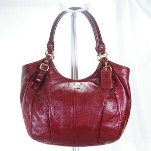 Coach Madison Abigail Burgundy Shoulder Bag